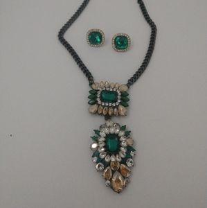 Natasha gunmetal necklace